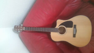 Electric acoustic FENDER guitar