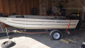 15' prince craft with 25ph mercury and trolling motor