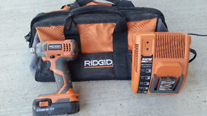 Ridgid Impact Driver x2 18V batteries and charger