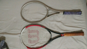 Free tennis racket and frame