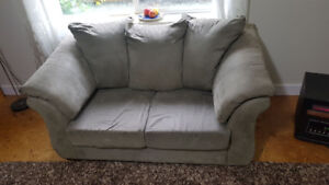 The BRICK Microfiber Couch & Loveseat