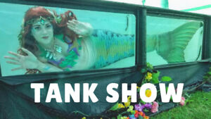 Realistic Mermaids for Your Event- Dry-land/Water/Tank Show!