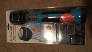 NEW 36 LED CORDLESS EXTENDABLE AUTO WORK LIGHT WITH CHARGER