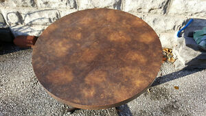 Small Round Table with Heavy Metal Base Windsor Region Ontario image 3