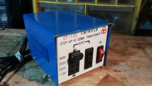 CT 100 STEP UP & STEP DOWN TRANSFORMER 240V,  110V& 110 TO 240