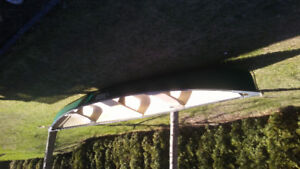 17' Pelican canoe with paddles $400