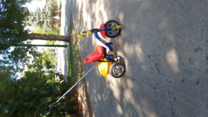 Kettler Tricycle with push bar
