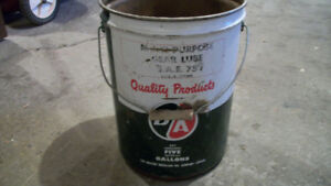 Vintage B/A 5 Gallon Oil Can