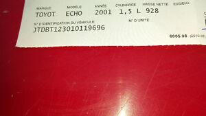 2001 Toyota Echo Autre Gatineau Ottawa / Gatineau Area image 1