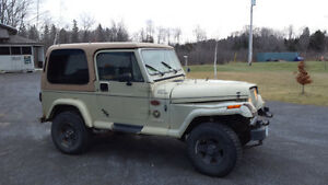 1992 Jeep Wrangler with fibreglass hard top