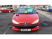 2001 PEUGEOT 206 CC 2.0 SE Coupe Cabriolet From GBP1,495 + Retail Package