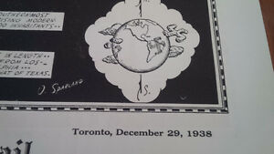 Globe and Mail Poster, Continent of South America, 1938 Kitchener / Waterloo Kitchener Area image 4
