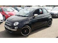 Fiat 500 1.2 POP, Black With Alloys, Service History, Abarth Looks