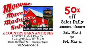 Antiques - Country Barn Antiques M-O-O-ORE March Madness Sale