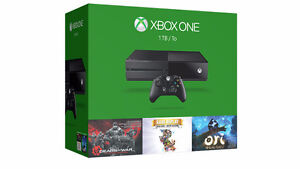 Black Xbox One 1TB + 1Controller + 4 Games