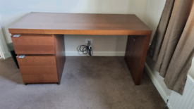 IKEA home office desk and matching drawer unit for sale