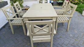 Garden set table and 6 chairs