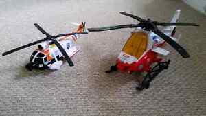 Two Tonka battery operated  toy helicopters
