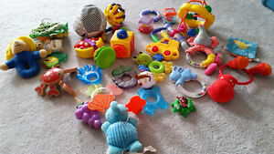 A box of baby toys in great condition - $25