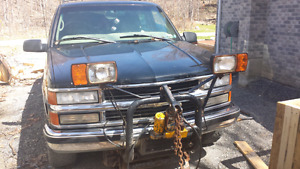 99 Chevy Tahoe with plow