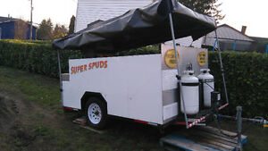5 x 7 ft USED MOBILE POUTINE & ICE CREAM FOOD CART, MAKE $$ NOW