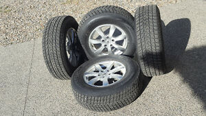 "Near-NEW Set of 29"" Winter Tires on 16"" Alloy Wheels"