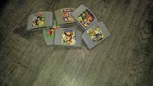 N64 4 controllers all cords and memory card