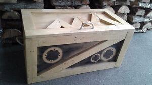 Coffre en bois, Rustique  (pièce unique )