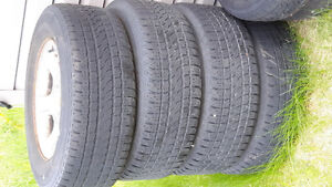 Four Summer Tires on Rims