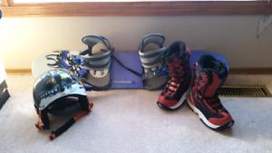 Kids snowboard set