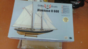 Billings Boats BLUENOSE II 600 Model Kit (partially completed)