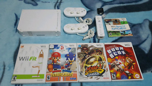 Nintendo Wii with (Mario, Wii Fit, Wii Sports, etc.) For Sale!