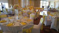 Wedding Decor, Chair Covers, and Linens