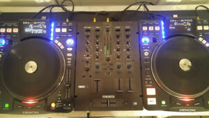 Denon DNS 3700 (pair), Reloop 33i mixer and Clydesdale carrying