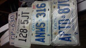4 pairs of Ontario License Plates