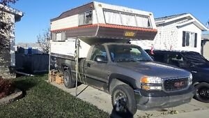 Camper with truck