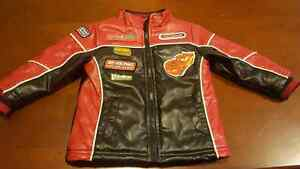 Cars leather jacket size 2t