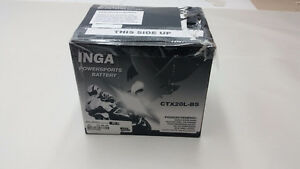 INGA CTX20L-BS Maintenance Free Battery. Dyna/ Softail /Goldwing