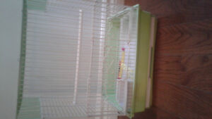 Small bird cage for sale withey millet holder swing