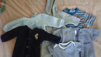 Assorted boys' clothing items, 0-3 months