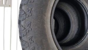 """4 pneus Général grabber a/t 2 255/70/17 31"""""""