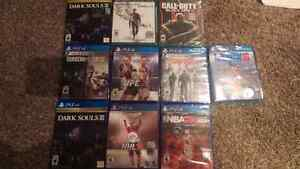 Factory sealed PS4 and Xbox one games