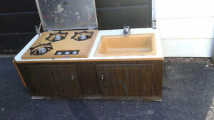 Coleman propane stove sink water tank DONT EMAIL PLEASE CALL