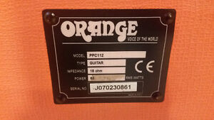 Cabinet Orange PPC 112 (60 watts!)