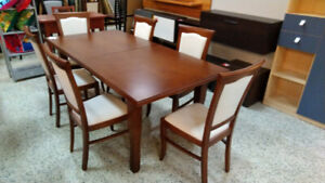 DINING SET - EXTENDABLE TABLE – MADE IN EUROPE