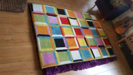 Multi-Coloured Large Patterned Rug