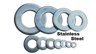 "25 qty 1/2"" Stainless Steel Flat Washers (18-8 Stainless)"