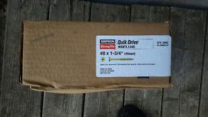 Quick Drive Screws, 6 packs/ 2000 each/new