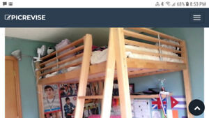 Ikea solid wood loft bed- double