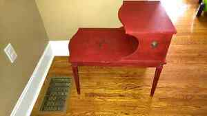 Funky Red Shabby Chic Side Table